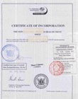 Consular legalized copy of certificate of incorporation